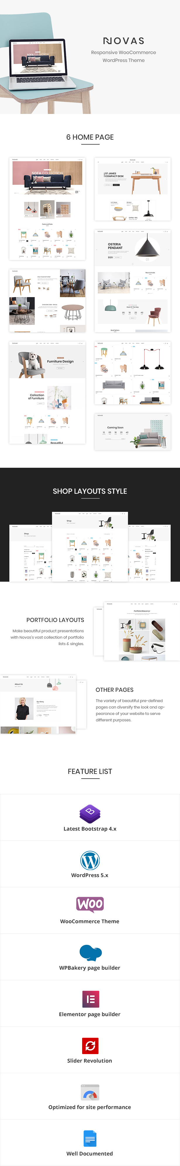 Novas | Furniture Store and Handmade Shop WordPress Theme - 1