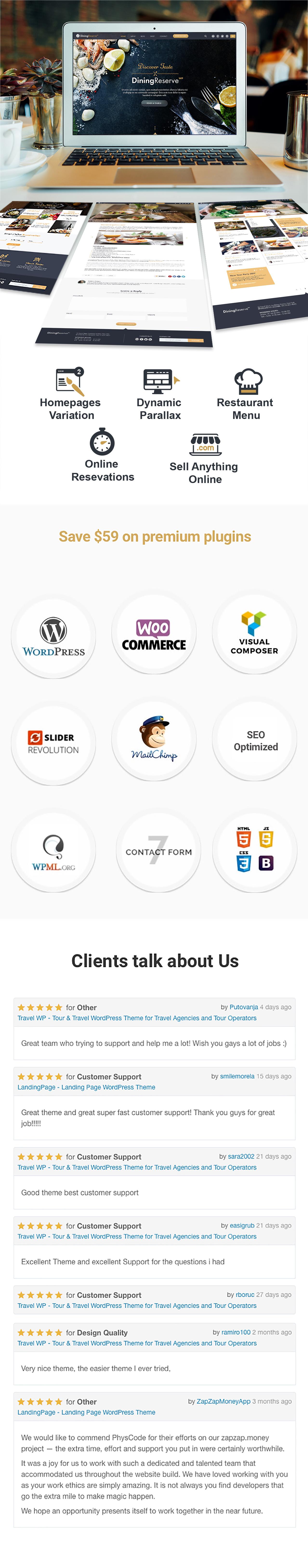 Restaurant WordPress Theme | Restaurant WP - 1