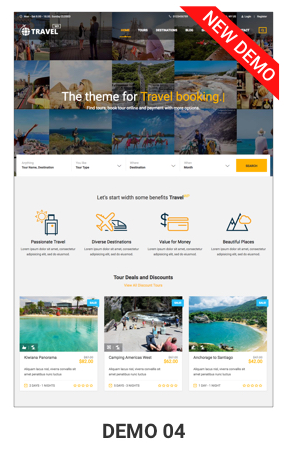 Tour Travel WordPress Theme - Travel WordPress Theme