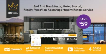 Hotel WordPress Theme – Hotel Queen