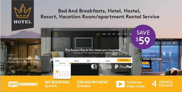 Hotel WordPress Theme – Hotel Queen