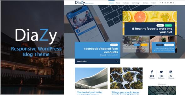 Diazy - Magazine WordPress Theme - PhysCode