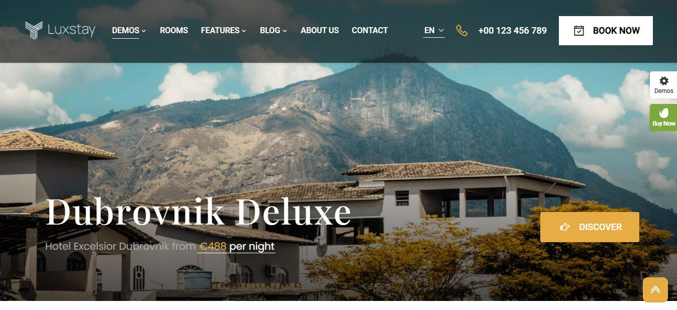 luxstay theme for hotel rooms