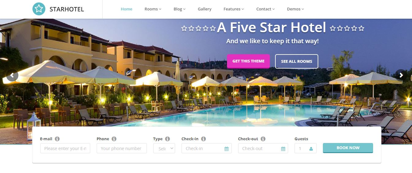 starhotel theme for hotel rooms